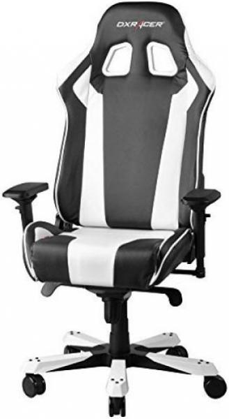 Dxracer King Ks06 Gaming Chair - Neck/lumbar Support Black & White (OH/KS06/NW)