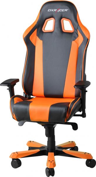 Dxracer King Ks06 Gaming Chair - Neck/lumbar Support Black & Orange (OH/KS06/NO)