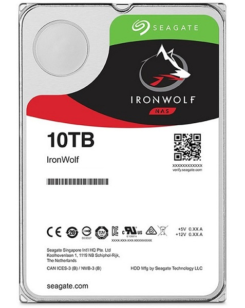 Seagate Ironwolf Nas HDD 3.5 10TB Sata 7200Rpm 256mb Cache No Encryption Desktop Drives (ST10000VN0008)