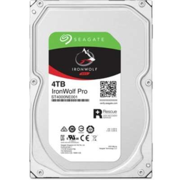 Seagate Ironwolf Pro Nas HDD 3.5 4TB Sata 7200 Rpm 128mb Cache No Encrypt Desktop Drives (ST4000NE001)