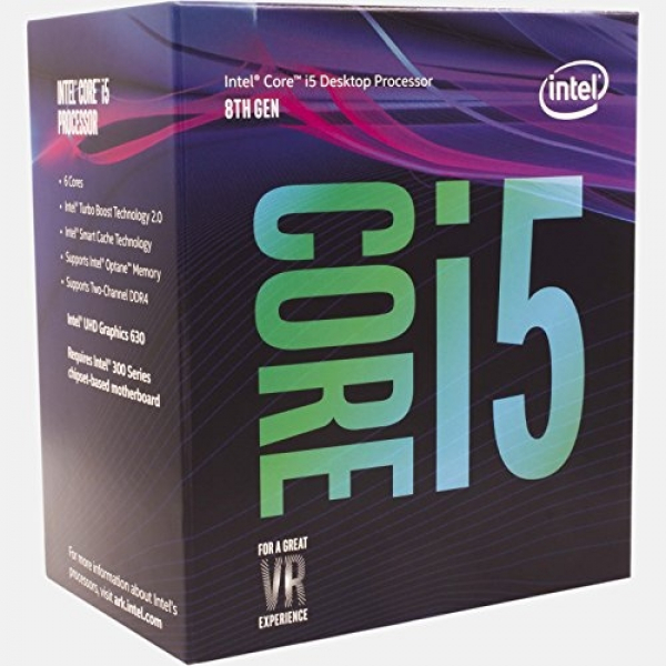 Intel Boxed Core I5-8400 Coffee Lake Processor (9m Cache Up To 4.00 Ghz) Fc-lga14c (BX80684I58400)