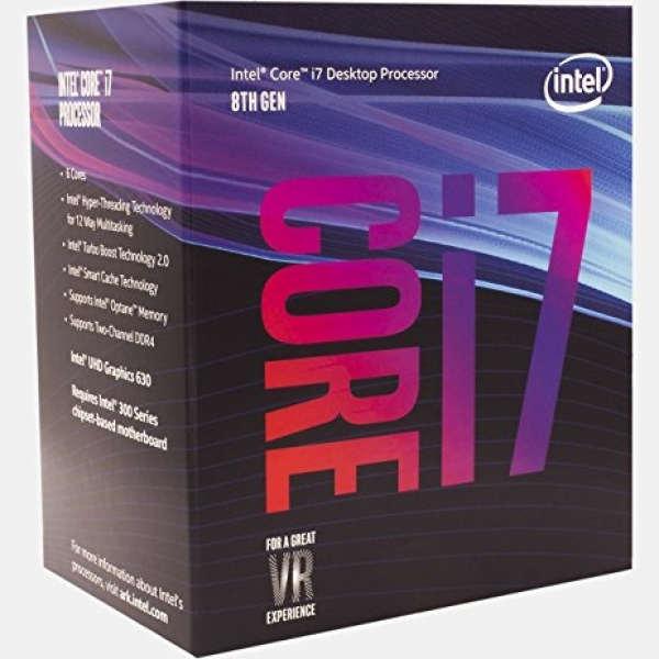 Intel Boxed Core I7-8700 Coffee Lake Processor (12m Cache Up To 4.60 Ghz) Fc-lga14c (BX80684I78700)