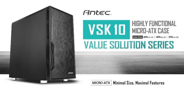 Antec Vsk10 Matx Case. 2x Usb 3.0 Thermally Advanced Builder