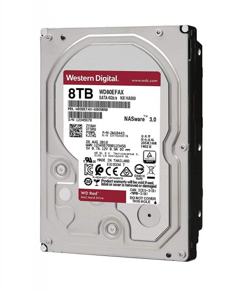 Western Digital 8TB, 256 MB 3.5