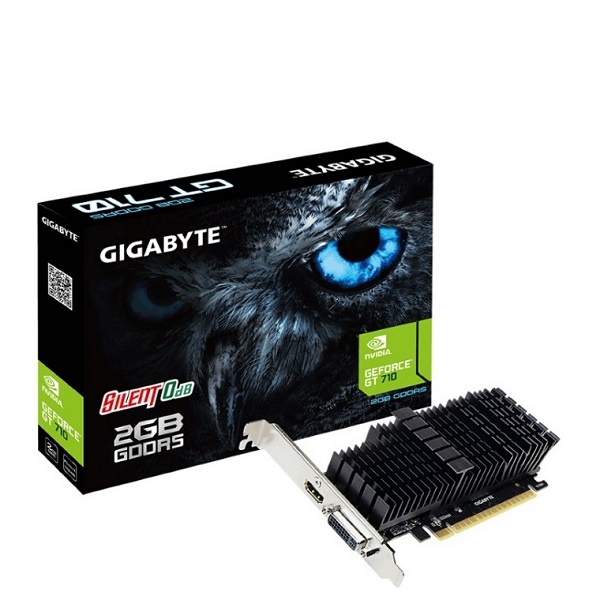 Gigabyte Nvidia Geforce Gt 710 2gb Ddr5 Pcie Video Card 4k 2xdisplays Hdmi (GV-N710D5SL-2GL)