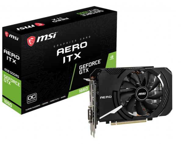 Msi Nvidia Geforce Gtx 1660 Aero Itx 6gb Oc Gddr6 7680x4320 Dp1.4 Hdm (GTX 1660 AERO ITX 6G OC)