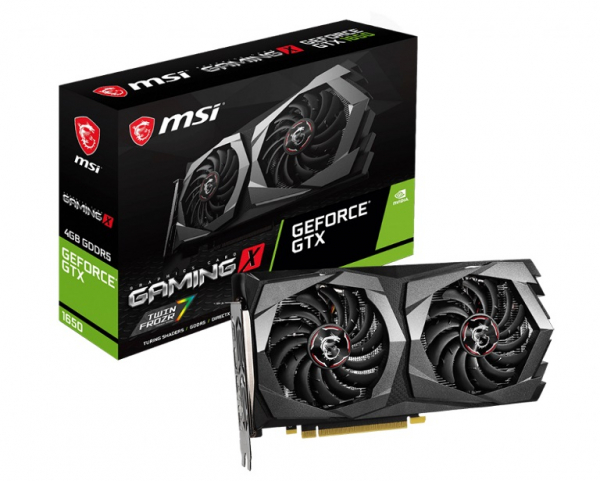 Msi Nvidia Geforce B Gddr5 Pcie Video Cards 8k60hz 2xdp Hdmi 3xdispla (GTX 1650 GAMING X 4G)