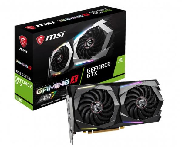 Msi Nvidia Geforce B Oc Gddr6 7680 X4320 3xdp1.4 1xhdmi2.0b 1875 Mhz  (GTX 1660 GAMING X 6G)