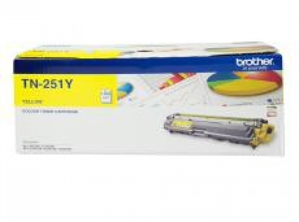 Brother Yellow Toner Cartridge To Suit Hl-3150cdn/3170cdw/mfc-9140cdn/933 (TN-251Y)
