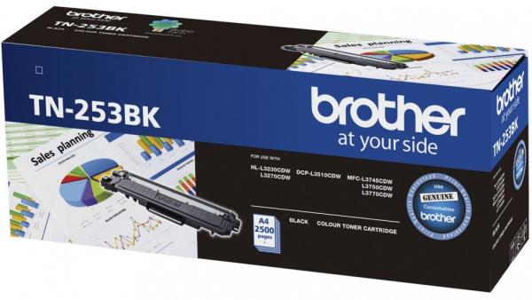 Brother Black Toner Cartridge To Suit Hl-3230cdw/3270cdw/dcp-l3015cdw/mfc (TN--253BK)