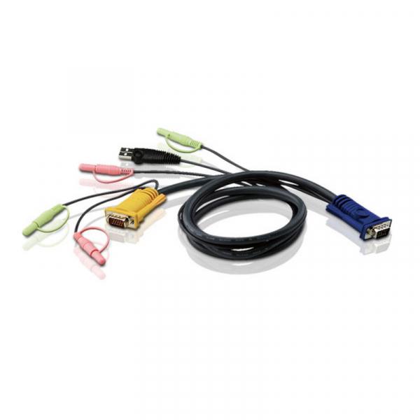 ATEN  Kvm Sphd15m 2 X 3.5mm Audio - Hd15m Usb A 2L-5302U