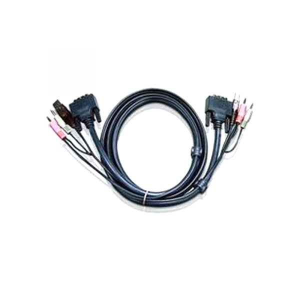 ATEN  5m Dual Link Dvi Kvm Cable With Audio To 2L-7D05UD