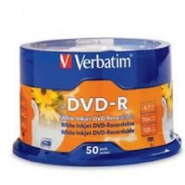 VERBATIM Dvd-r 4.7gb 50pk White Inkjet 16x ( 95137