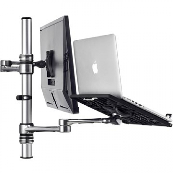 Atdec Notebook Monitor Arm Combo Mount - Silver (AF-AT-NBC-PC)
