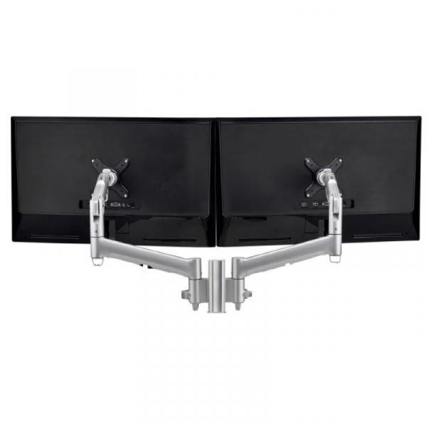 Atdec Awm Dual Monitor Mount - Silver (AWMS-2-D13G-S)