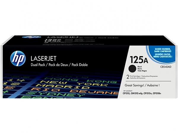HP Clj Cb540a Dual Pack Print CB540AD