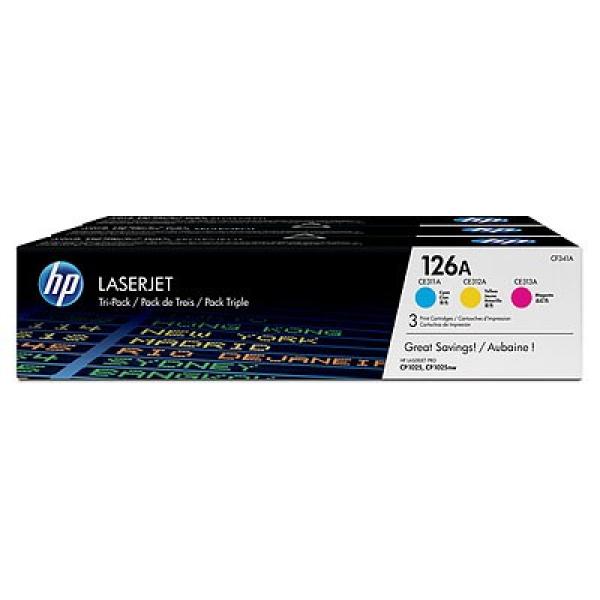 HP 126a Cym Combo Pack Laserjet Toner CF341A