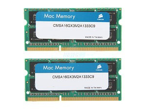 CORSAIR 16gb (2x8gb) Ddr3 1333mhz Apple Mac CMSA16GX3M2A1333C9