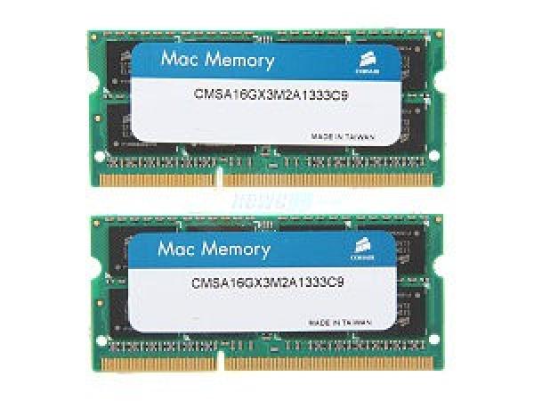CORSAIR 16gb (2x8gb) Ddr3 1333mhz Apple Mac CMSA16GX3M2A1333C9