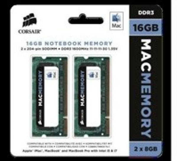 CORSAIR 16gb (2x8gb) Ddr3 1600mhz Apple Mac CMSA16GX3M2A1600C11
