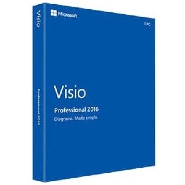 MICROSOFT Visio Pro 2016 Retail Pack For D87-07120