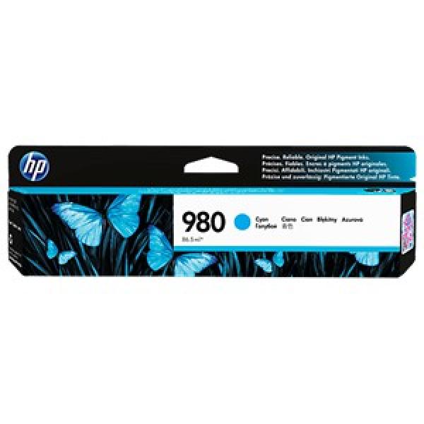 HP 980 Cyan Ink Cart 6.6k D8J07A