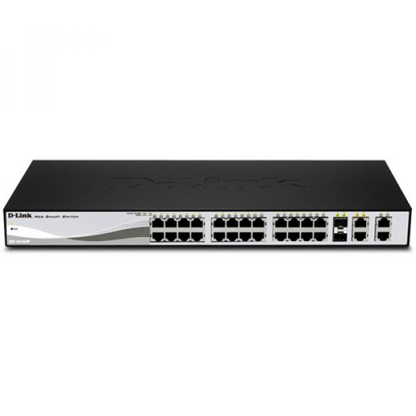 D-LINK Smart III - 24-Port 10/100Mpbs + 4 Giga (DES-1210-28P)