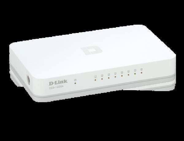 D-LINK Unmanaged 8-Port 10/100/1000Base-T (DGS-1008A)