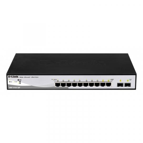 D-LINK 10-Port Websmart Poe Switch With 2-Port SFP (DGS-1210-10P)