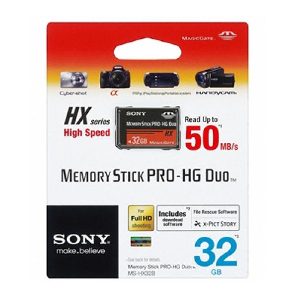 SONY Memory Stick Pro-hg Duo Hx Rev.b 32gb FFCSON32G50MHGX-1