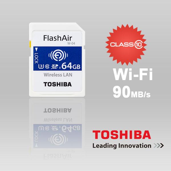 SANDISK Toshiba 64gb Thn-nw04w0640c6 Flashair FFCTOS64GAIR04-1