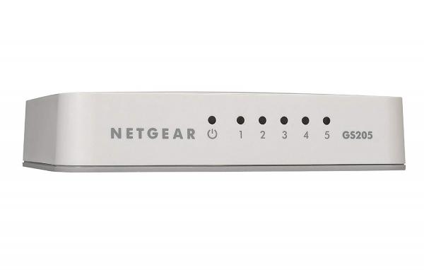 NETGEAR Gs205 5-port Gigabit Unmanaged GS205-100AUS