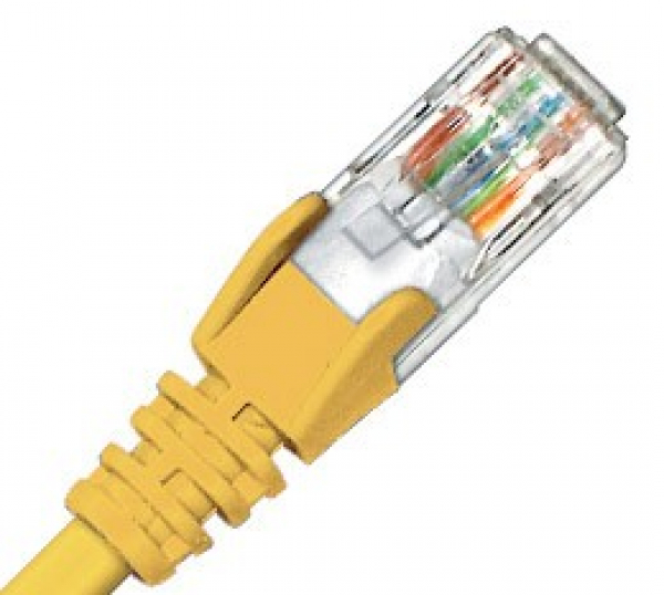 HYPERTEC ZYLAX Cat6 Yellow Patch Lead HCAT6YL1