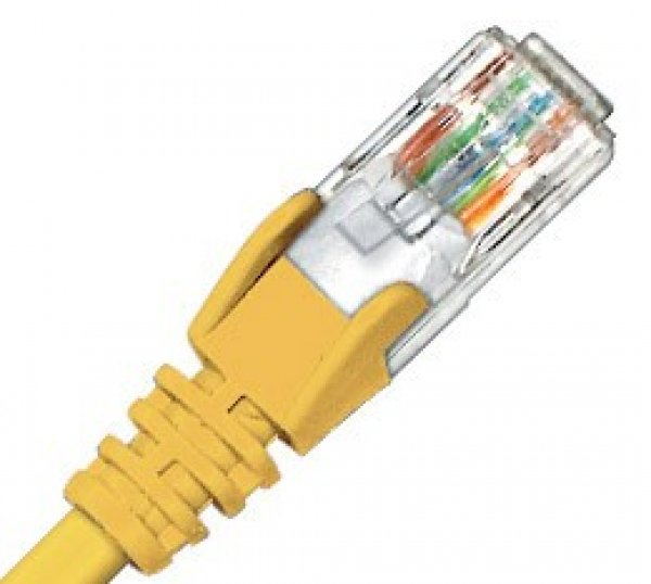 HYPERTEC ZYLAX Cat6 Yellow Patch Lead HCAT6YL2