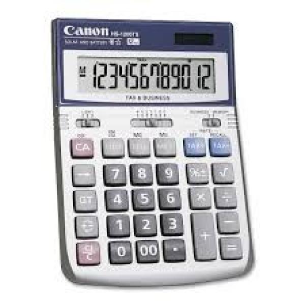 CANON Hs-1200ts 12 Digit Dual Power Tax & HS1200TS