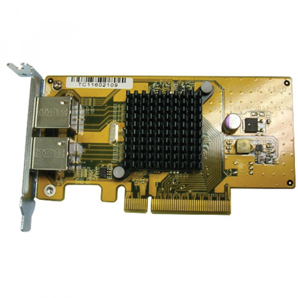 Qnap Dual-port 1 GBE Network Expansion Card For NAS Accessories (LAN-1G2T-D)
