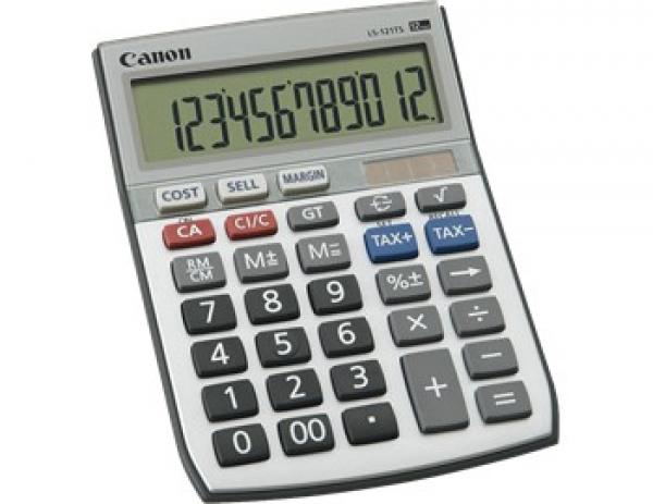 CANON Calcuator 12 Digit Dual Power Tax LS121TS