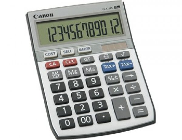 CANON Calcuator 12 Digit Dual Power Tax LS121TS