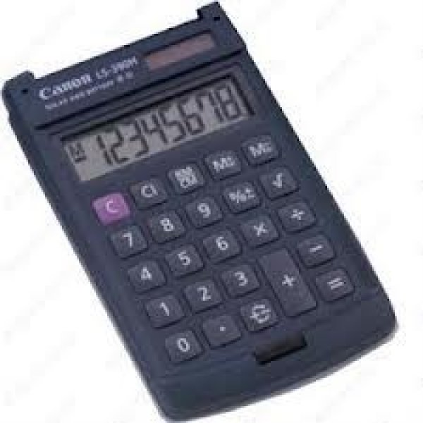 CANON 8 Digit Hard Calculator LS390HBL