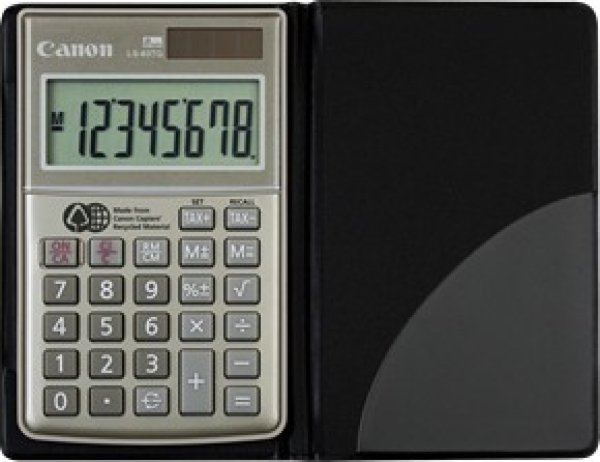 CANON 8 Digit Dual Power Tax Function Made From LS63TG