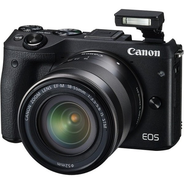 CANON Eos M3 Black With Efm18-55isstm & M3TKISB