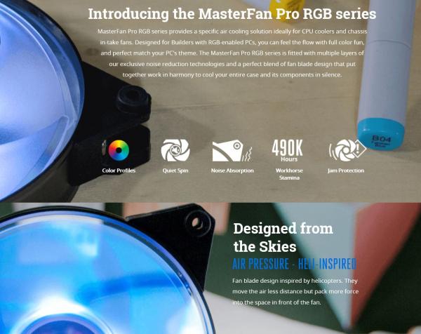 COOLERMASTER Masterfan Pro Rgb Air Pressure MFY-P2DN-15NPC-R1