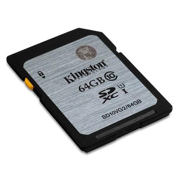 Kingston 64GB SDHC Class10 UHS-I 80MB/S Read Flas (SD10VG2/64GBFR)