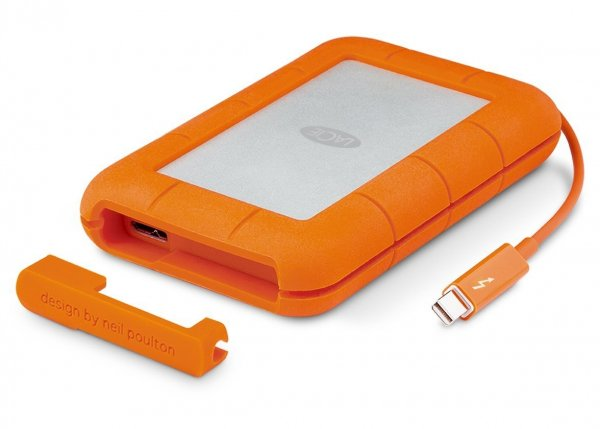 Lacie Rugged USB-C Mobile Drive 2.5 2000GB External Portable (STFR2000800)