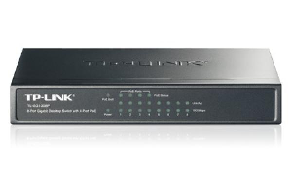 TP-LINK 8-port Gigabit Desktop Switch With TL-SG1008P