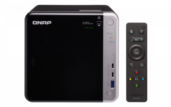 Qnap TS-453BT3 4-Bay NAS Enclosure Intel Celeron J3455 quad-core 1.5 GHz processor (burst up to 2.3 GHz) (TS-453BT3-8G)