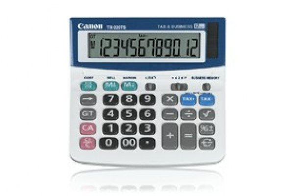 CANON 12 Digit Dual Power Tax Business Function TX220TS