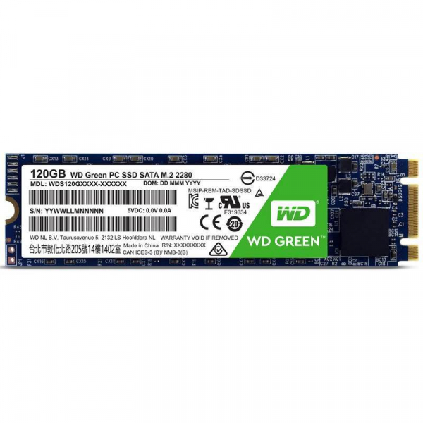 Western Digital Green SSD 120GB M.2 Sata Iii 6GB/S SSD Drives (S120G2G0B)