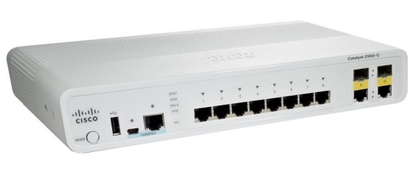CISCO Catalyst 2960c Pd Switch 8 Fe 2 X 1g Lan WS-C2960CPD-8TT-L