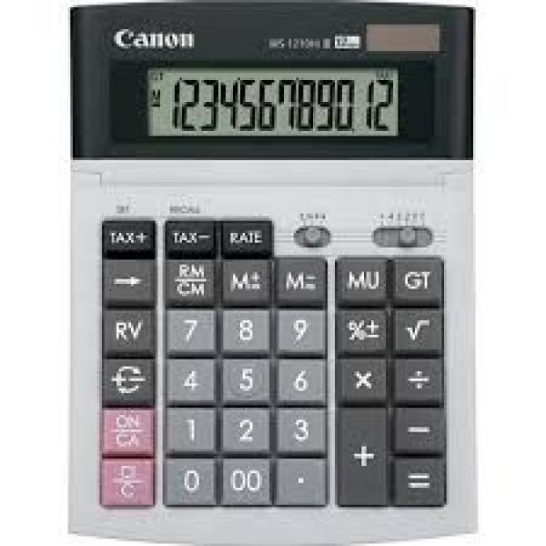 CANON 12 Digit Desktop Calculator Dual Power WS1210HIIII
